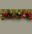 christmas background with balls colorful xmas vector image vector image