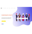 colleagues celebration corporate party vector image vector image