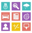 color icons for web design set 49 vector image vector image