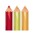 color pencils drawing supply study school vector image vector image
