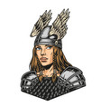 colorful concept pretty viking woman vector image vector image