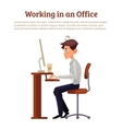 Concept of office syndrome in men vector image vector image