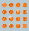 copper coins set vector image vector image