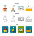 courier scales container warehouse logistic vector image