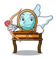 cupid dressing table character cartoon vector image