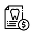 dentist stomatology list thin line icon vector image vector image