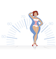 Dieting woman vector image vector image