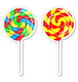 food labels or stickers set lollipop vector image