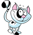 funny cat cartoon vector image vector image