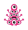 Funny monster with many eyes Cute cartoon vector image