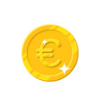 gold euro coin cartoon style isolated vector image vector image