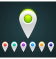 GPS Color Map Icons vector image vector image