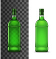 green glass bottles alcohol drink vector image vector image