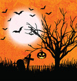 grunge halloween background 2508 vector image vector image