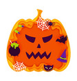 halloween pumpkin papercut concept vector image vector image