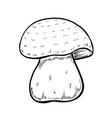 hand drawn mushroom vector image vector image
