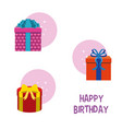 happy birthday gift boxes vector image vector image
