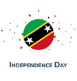 independence day of saint kitts and newis vector image
