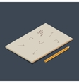 Isometric copybook vector image vector image