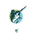 javanese swordfish style symbol vector image vector image