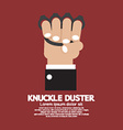 Knuckle Duster In Hand Graphic vector image vector image