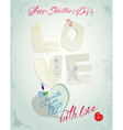 love paper card 380 vector image