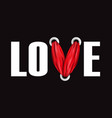 love t-shirt fashion print vector image vector image