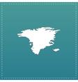 map - Alaska vector image vector image