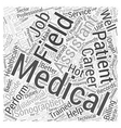 medical field careers Word Cloud Concept vector image vector image