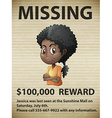 Missing person vector image
