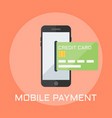 mobile payment flat style vector image