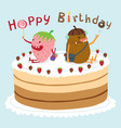 monster happy birthday vector image vector image