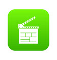 movie cracker icon green vector image vector image