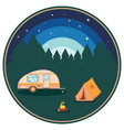 night camping poster vector image vector image