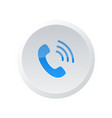 phone icon flat phone sign isolated vector image vector image
