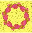 pineapple creative trendy art wreath vector image vector image