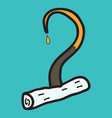 pirate hook halloween concept flat icon on vector image vector image
