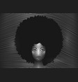 portrait african american woman afro hair curly vector image vector image
