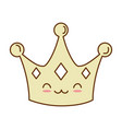 queen crown isolated icon vector image