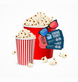 realistic 3d detailed cinema concept card vector image vector image
