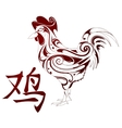 Rooster as symbol for Chinese zodiac vector image vector image