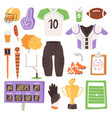 rugby rugger sportswear and ball for vector image