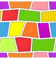 Seamless comic pattern vector image vector image