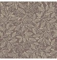 Seamless pattern stylized leaves vector image vector image