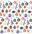 seamless pattern with hristmas balls vector image