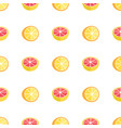 seamless pattern with oranges and grapefruits vector image