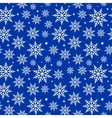 seamless snowflakes background pattern vector image vector image