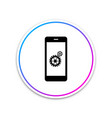 setting on smartphone screen icon isolated vector image vector image