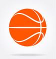 simple orange basket ball silhouette vector image vector image