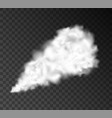 smoke puff vape isolated steam trail cloud vector image